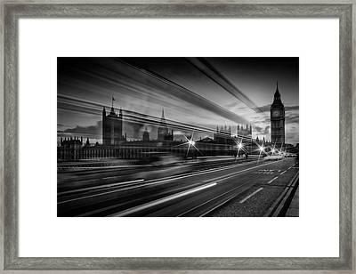London Westminster Bridge Traffic Framed Print