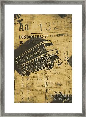 Londoners Run Framed Print