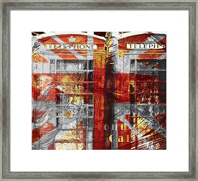 Framed Print featuring the digital art London's Calling  by Fine Art By Andrew David