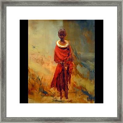 Lone African Girl Framed Print