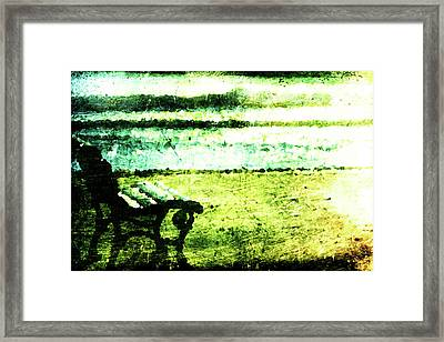 Lone Bench Framed Print by Andrea Barbieri