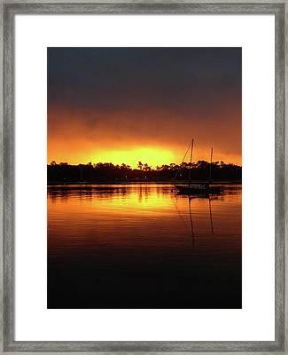 Lone Boat 1 Framed Print