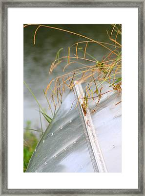 Lone Canoe Framed Print by Greg Sharpe