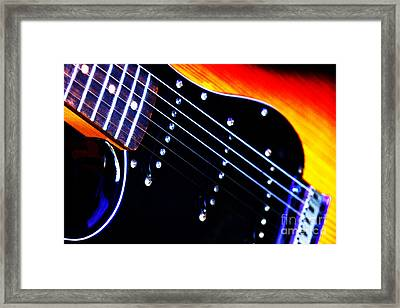 Framed Print featuring the photograph Lone Guitar by Baggieoldboy