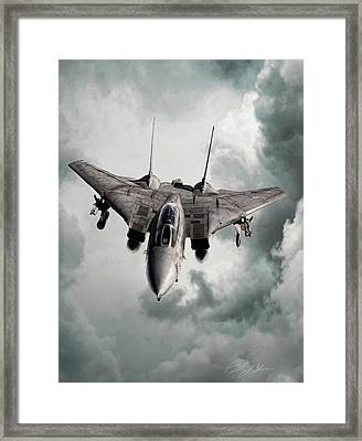 Lone Hunter Framed Print by Peter Chilelli