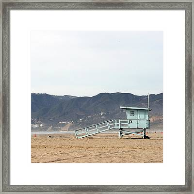 Lone Lifeguard Tower Framed Print