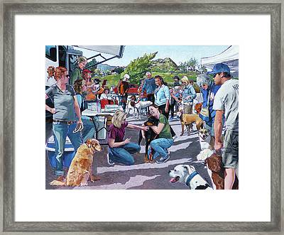 Lone Oak Vaccine Clinic Framed Print