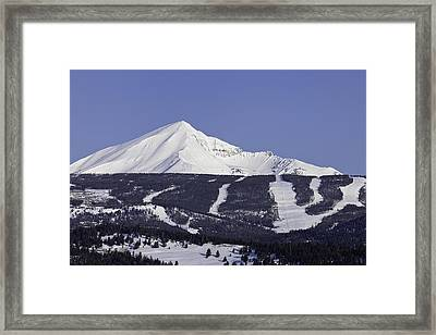 Lone Peak Southern Exposure Framed Print
