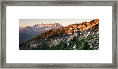 Lone Peak Wilderness Panorama Framed Print