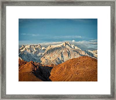 Lone Pine Peak Framed Print