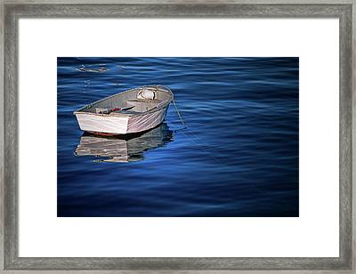 Lone Rowboat Framed Print