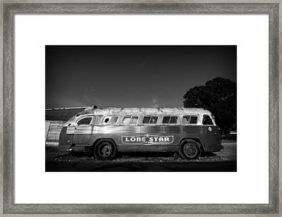 Lone Star Bus 1 Framed Print by John Gusky