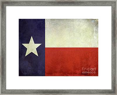 Lone Star Flag Framed Print by Jon Neidert