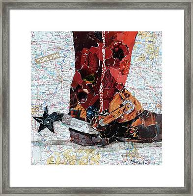 Lone Star Spur Framed Print by Suzy Pal Powell