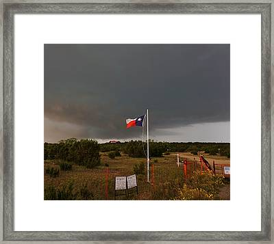 Lone Star Supercell Framed Print by Ed Sweeney