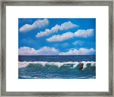 Lone Surfer Framed Print by Tony Rodriguez