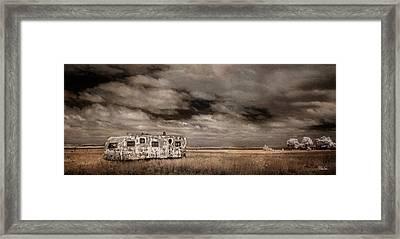 Lone Trailer Framed Print