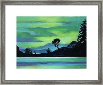 Lone Tree On The Salish Sea Framed Print