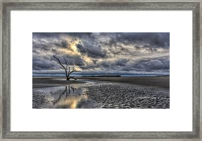 Lone Tree Under Moody Skies Framed Print