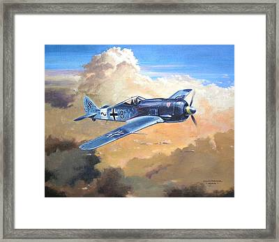 'lone Warrior Fw190' Framed Print