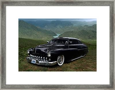 Lone Wolf 1949 Mercury Low Rider Framed Print by Tim McCullough