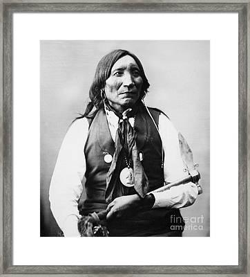 Lone Wolf D. 1879 Framed Print by Granger
