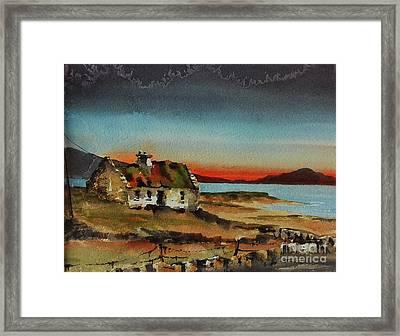 Loneley Cottage Nr Ardara Donegal Framed Print