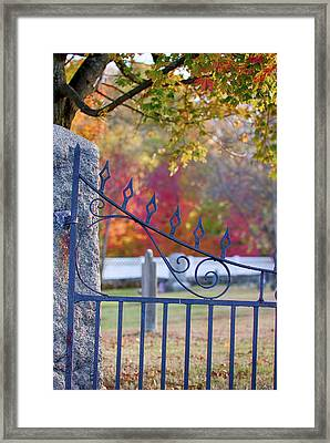 Lonely Autumn Gateway  Framed Print