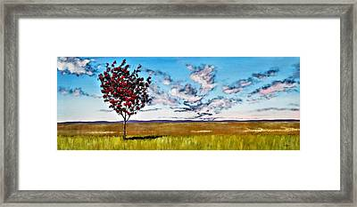 Lonely Autumn Tree Framed Print