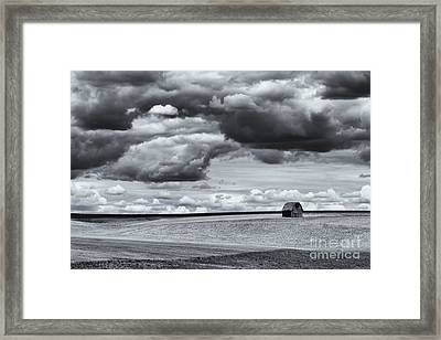 Lonely Barn Framed Print by Mike Dawson