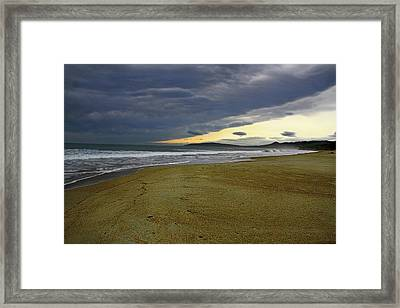 Lonely Beach Framed Print