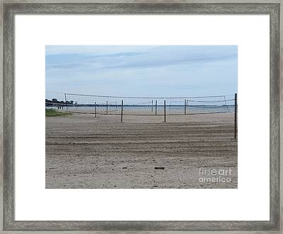 Lonely Beach Volleyball Framed Print by Erick Schmidt
