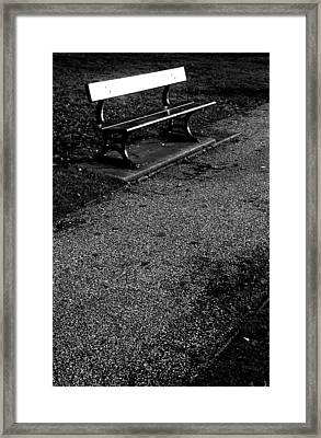 Lonely Bench Framed Print by Jez C Self