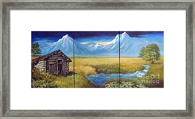 Lonely Cabin Framed Print