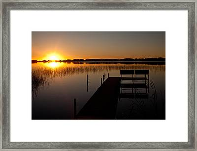 Lonely Dock Framed Print