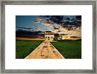 Framed Print featuring the photograph Lonely Farm House  by Harry Spitz