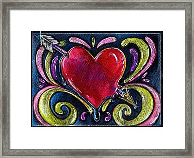 Framed Print featuring the drawing Lonely Hearts by Nada Meeks