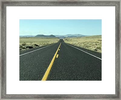 Lonely Highway Framed Print