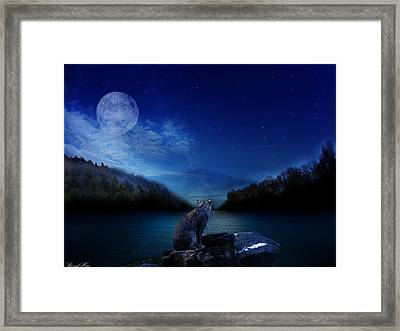 Lonely Hunter Framed Print
