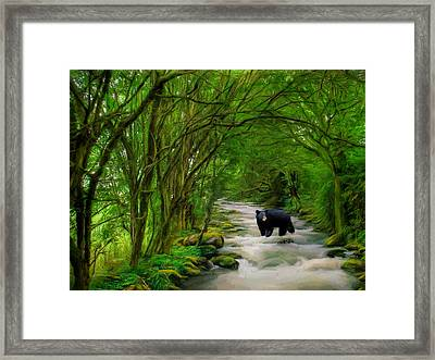 Framed Print featuring the painting Lonely Hunter by Steven Richardson
