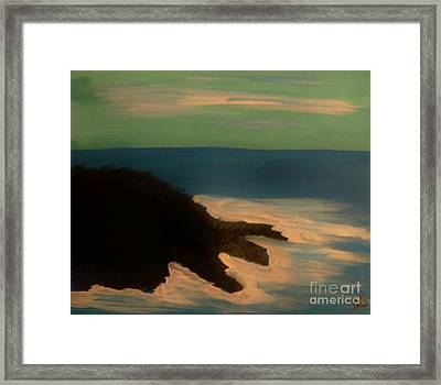 Lonely Island Framed Print by Marie Bulger