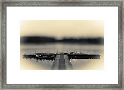 Lonely Jetty Framed Print by Mark Denham