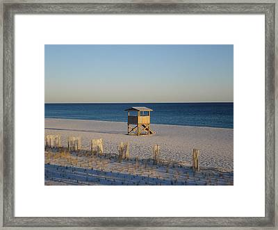 Lonely Lifeguard Framed Print by Navarre Photos