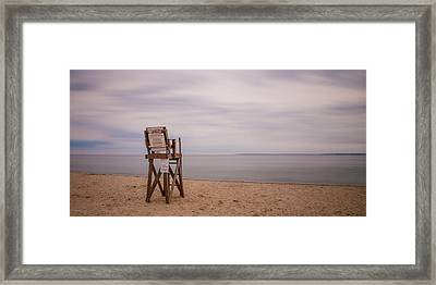 Lonely Lifeguard Framed Print by Paul Treseler