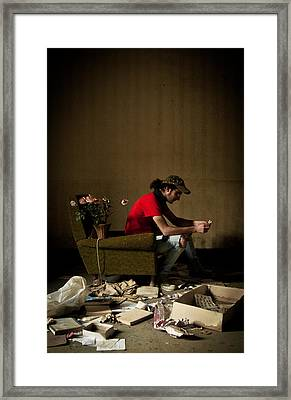 Lonely Luster Framed Print by Luigi Montebello