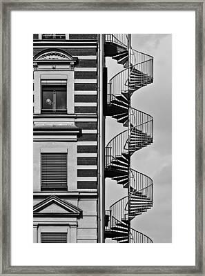 Lonely Man Framed Print by Christian Muller