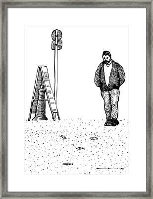 Lonely Man Framed Print by Karl Addison