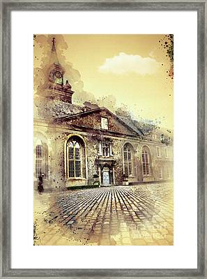 Lonely Man Walking Framed Print by Svetlana Sewell
