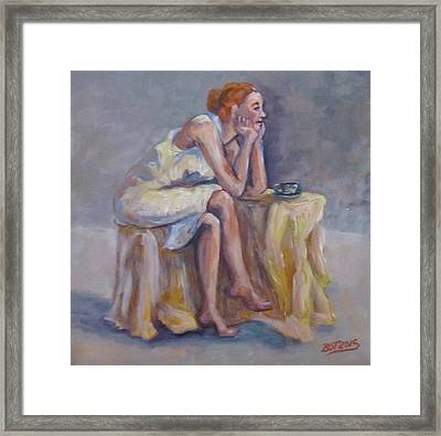 Lonely Mornings Framed Print