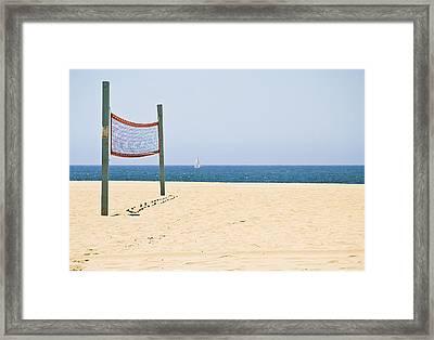 Lonely Net  Framed Print